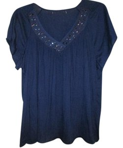 French Laundry Top Dark Navy/Purple color.
