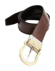 Salvatore Ferragamo Salvatore Ferragamo Twirl four way adjustable reversible nero And brown