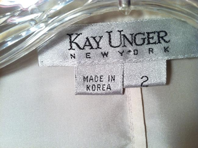 Kay Unger Tie Satin Finish Top Winter white Image 3