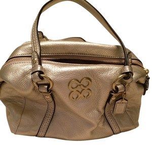 Coach Leather Satchel in Gold