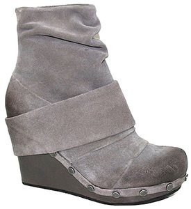 OTBT Ankle Leather Leather Ankle Grey Suede Boots