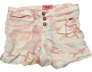Juicy Couture Cute Summer Cargo Camo Mini/Short Shorts Pink