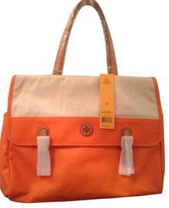 Tory Burch Tote in orange and natural