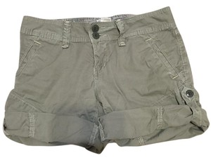 Lucky Brand Cargo Adjustable Camo Cuffed Shorts Green