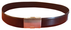 Prada Prada black belt with silver buckle