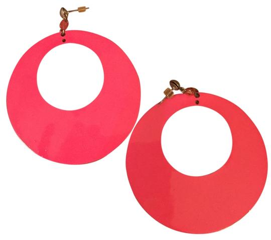 Other Hot pink retro earrings