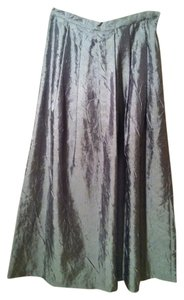 Isda & Co. Metallic Long Runway Maxi Skirt Gunmetal silver