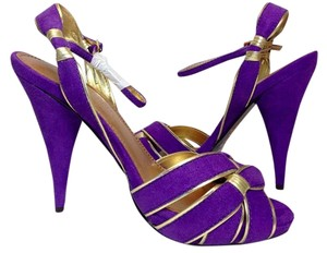 Colin Stuart Leather Purple Sandals