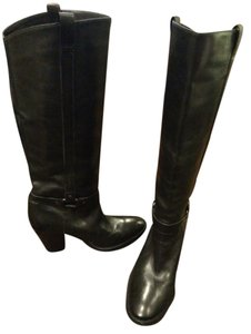 Via Spiga Tall Leather Black Boots