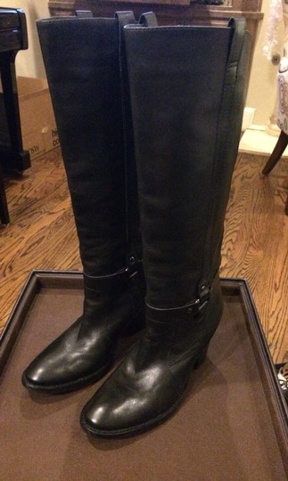 Via Spiga Tall Leather Ankle Hunter Burberry Prada Cole Haan Ugg Uggs Black Boots
