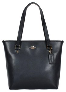 Coach Grainy Leather Brown Tote in Midnight