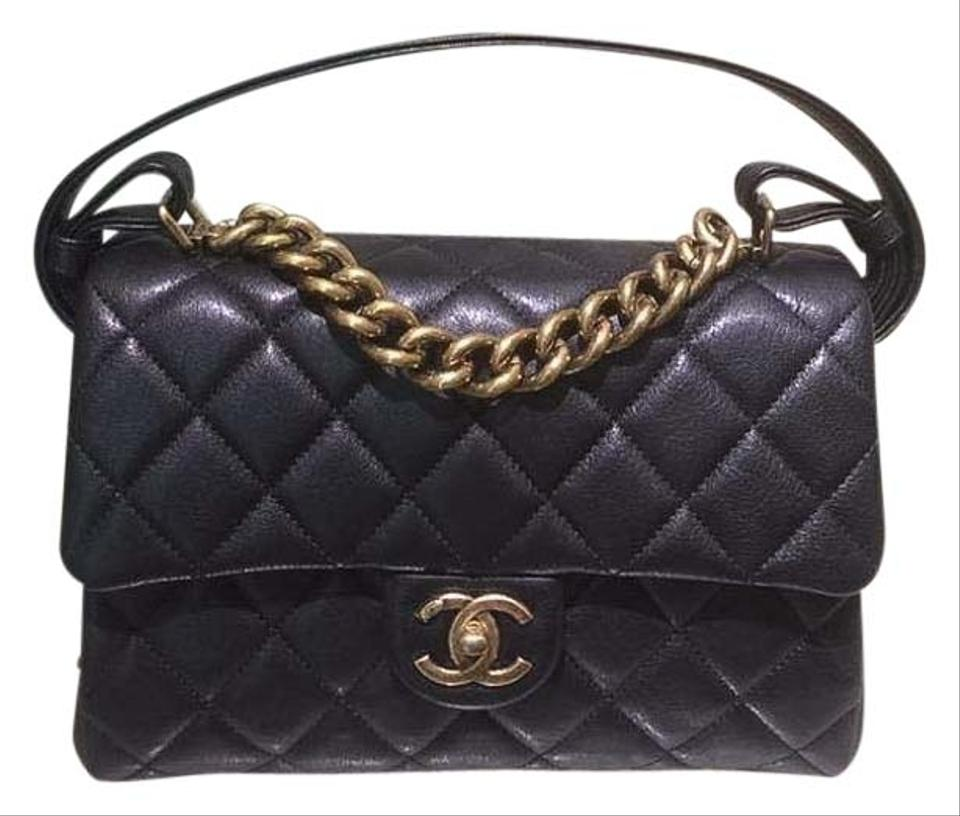 b0c67b0fc9cd Chanel Classic Flap Trapezio with Handle Limited Edition Black ...