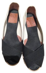 Tory Burch Beige and Black Wedges