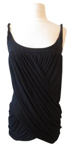 Velvet Drape Top Black