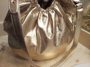 Donna Karan Tote in Metallic Gold