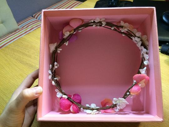 Pink White Flower Band Hair Accessory