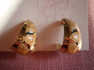 Other Goldtone & Mother of Pearl Earrings