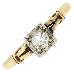 Other Elegant Ladies Vintage 14K Yellow Gold 0.25ct Diamond Engagement Ring