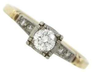 Lovely Ladies Vintage 14K Yellow Gold 0.30ctw Diamond Engagement Ring