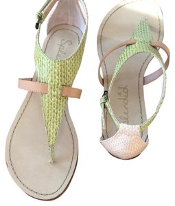 Splendid Flats Nude and lime Sandals