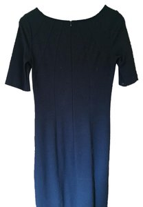 Three Dots Seamed Shift Blue Dress
