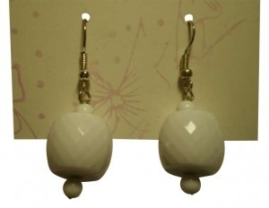 Unknown white dangly earrings