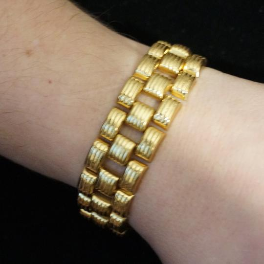 Other Wide Vintage Coro Bookchain Link Bracelet Gold Tone
