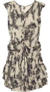 IRO short dress Cream & Grey on Tradesy