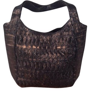 Nancy Gonzalez Bronze Crocodile Masterpiece Crocodile Exotic Skins Handmade Hobo Bag