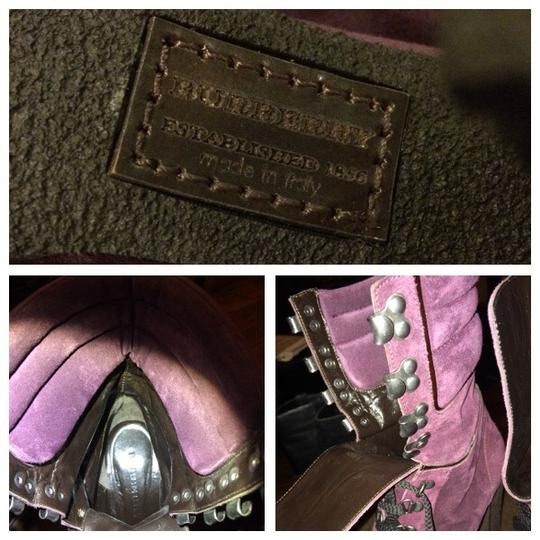 Burberry Suede Vintage Runway Rare Tall Army Lace Hunter Ugg Uggs Purple Black Boots