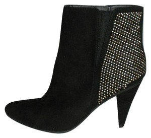 Forever 21 Suede Studded Gold Black Boots