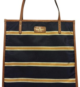 Kate Spade Tote in Navy & Gold Stripe
