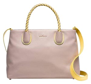 Kate Spade Woods Drive Bodie Leather Satchel in Almondine / Sunlight
