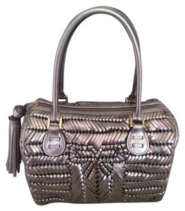 Anya Hindmarch Woven Leather Satchel in Metallic