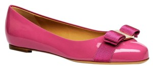 Salvatore Ferragamo Varina Leather pink Flats