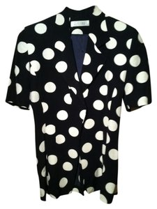 Other Polka Dot Tunic Button Down Shirt Black and white