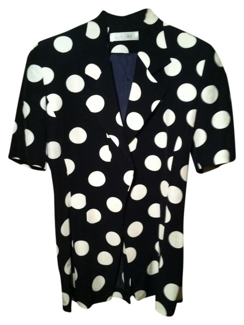 Preload https://item5.tradesy.com/images/black-and-white-polka-dot-blazertunic-button-down-top-size-4-s-1616769-0-0.jpg?width=400&height=650