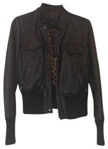 Express Leather Bomber Real Leather Leather Jacket