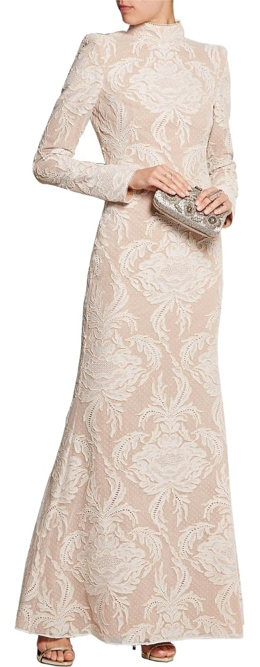 Alexander McQueen Ivory Corded Lace and Swiss-dot Tulle Gown Long ...