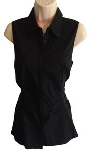 Lafayette 148 New York Sleeveless Top Black