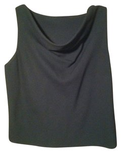 Other Funnel Neck Sleeveless Top Black
