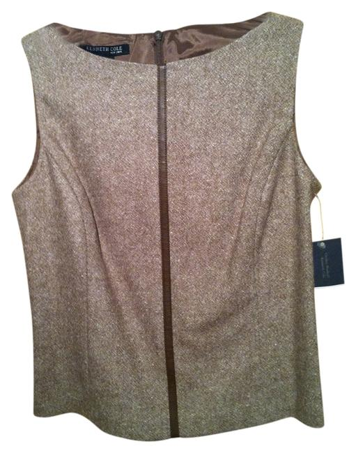 Preload https://item1.tradesy.com/images/kenneth-cole-camel-with-tan-trim-tank-topcami-size-2-xs-1616850-0-0.jpg?width=400&height=650