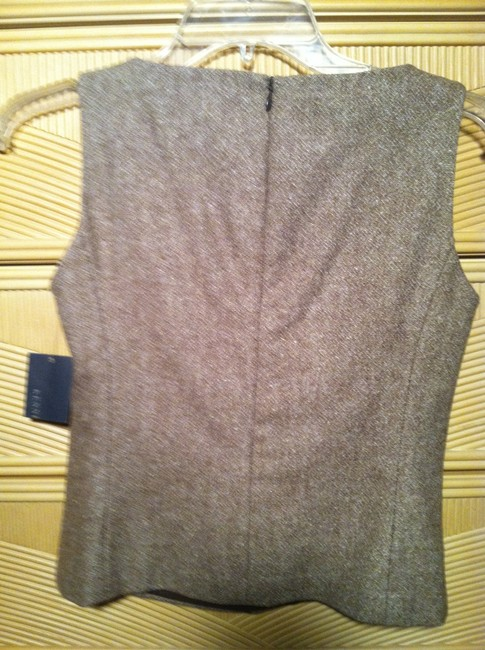 Kenneth Cole Shell Coffee Brown Top Camel with tan trim