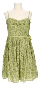 Max Studio short dress Green Cotton Lined Sweetheart Neckline Spaghetti Straps on Tradesy