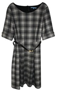 Antonio Melani Plaid White Dress