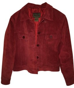 Brandon Thomas Short Jean Red suede Leather Jacket