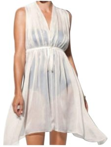 Spanx Spanx Sheer Chiffon Creme Caftan Cover Up- Style 1315