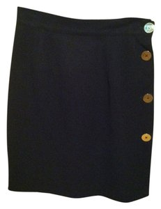 Andrea Jovine Pencil Skirt Black with gold trim