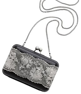 Brighton Black & Silver Clutch