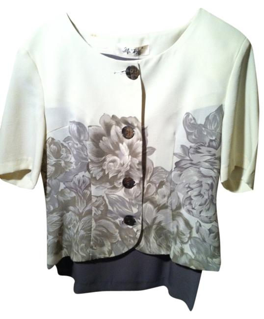 Other Floral gray skirt suit